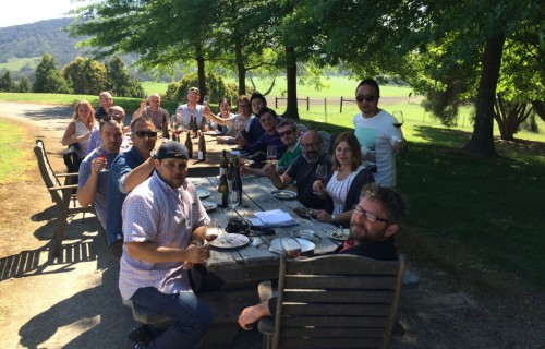 Long table lunch at Mac Forbes, Yarra Valley