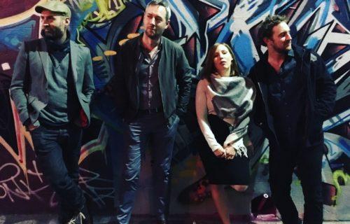 Band photo, Melbourne laneway