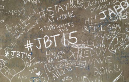 Tagging in the cooperage at Yalumba