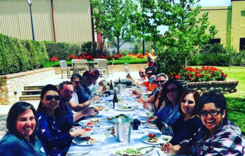 Long table #Viognier lunch at Yalumba