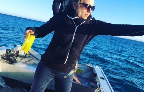 Laure casting a lure