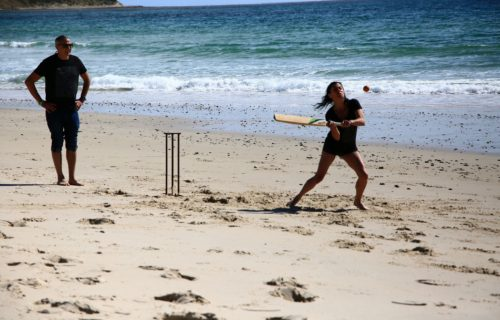 Beach cricket, Port Willunga