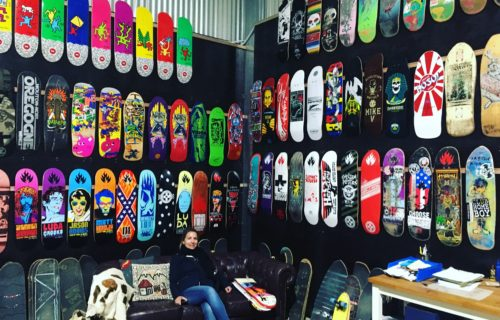 Laure amongst the boards