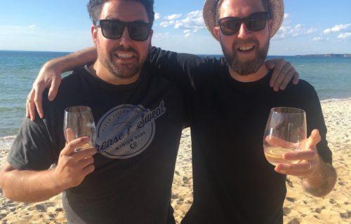 Gin on the beach